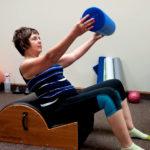 Pilates-training-on-spine-corrector